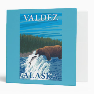 Bear Fishing in River - Valdez, Alaska Binder