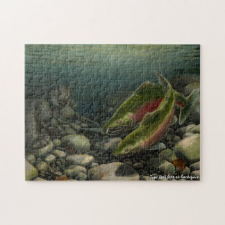 Bear Fishing Puzzle Personalized Salmon Art Puzzle