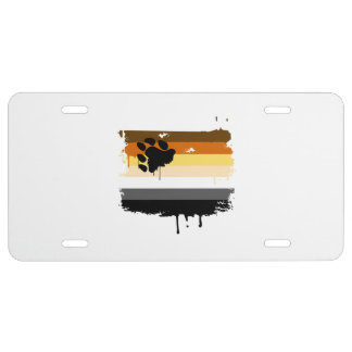 BEAR FLAG DRIPPING -.png License Plate