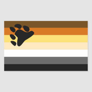 Bear Flag Rectangular Sticker