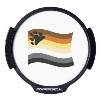 BEAR FLAG WAVING -.png LED Window Decal