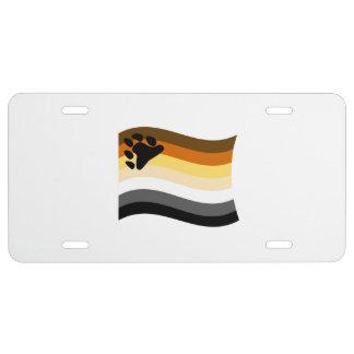 BEAR FLAG WAVING -.png License Plate