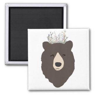 Bear Flower Crown Magnet