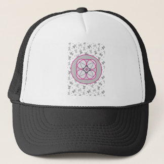 bear flower trucker hat