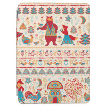 Bear,fox,rooster and chicken with chicken,fairy ho iPad air cover
