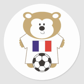 BEAR FRANCE CLASSIC ROUND STICKER