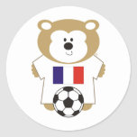 BEAR FRANCE ROUND STICKERS