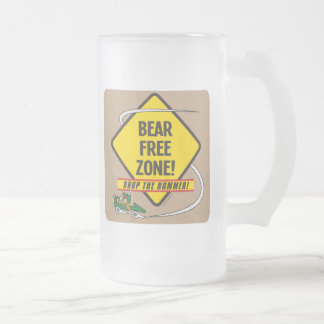 Bear Free Zone Frosted Glass Mug