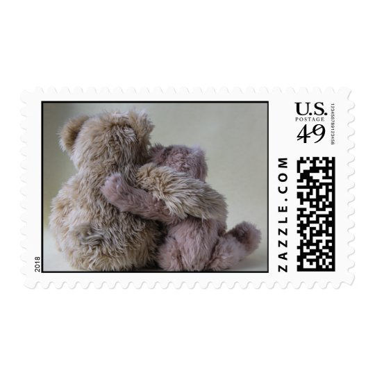 bear friends postage stamp