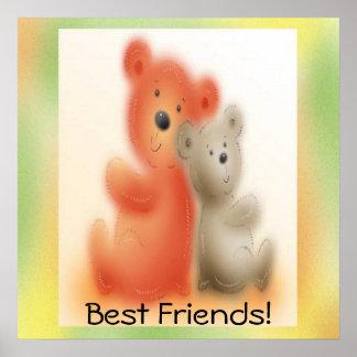 Bear Friends Poster