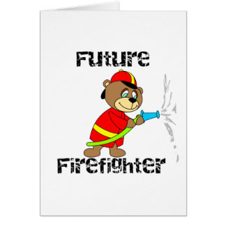Bear Future Firefighter T-shirts and Gifts Card