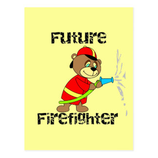 Bear Future Firefighter T-shirts and Gifts Postcard