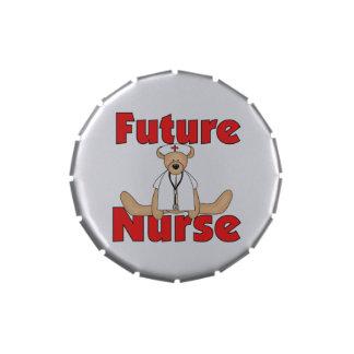 Bear Future Nurse Candy Tins and Jars