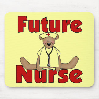 Bear Future Nurse T-shirts and Gifts Mouse Pad