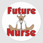 Bear Future Nurse T-shirts and Gifts Stickers