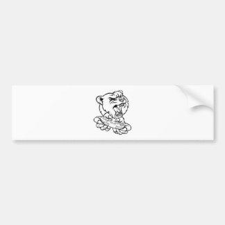 Bear Gamer Mascot Bumper Sticker