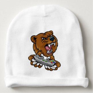 Bear Gamer Player Mascot Baby Beanie