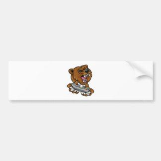 Bear Gamer Player Mascot Bumper Sticker