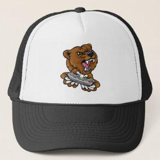 Bear Gamer Player Mascot Trucker Hat