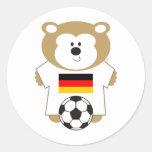BEAR GERMANY ROUND STICKER