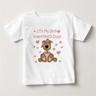 Bear Girl 2nd Valentine's Day Baby T-Shirt
