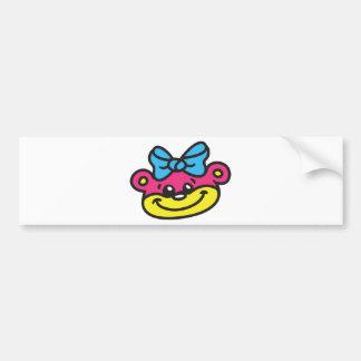 Bear girl - bear bumper sticker