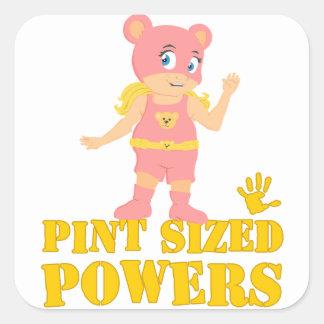 Bear Girl Square Sticker