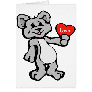 Bear Giving Heart - Note Card