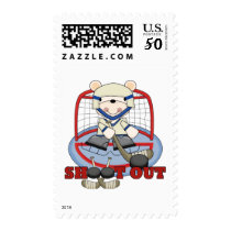 Bear Goalie Shoot Out Hockey Tshirts and Gifts Postage
