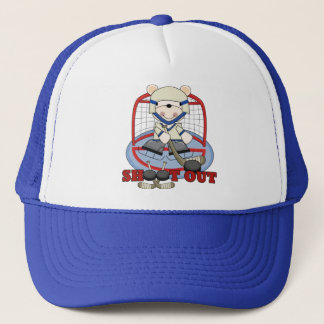 Bear Goalie Shoot Out Hockey Tshirts and Gifts Trucker Hat