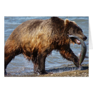 Bear gone fishing notecard stationery note card