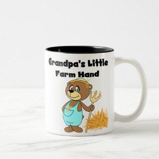 Bear Grandpas Farm Hand  Two-Tone Coffee Mug