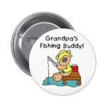 Bear Grandpas Fishing Buddy 2 Inch Round Button