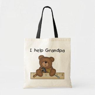 Bear Grandpa's Helper Tshirts and Gifts Canvas Bags