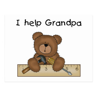 Bear Grandpa's Helper Tshirts and Gifts Post Cards