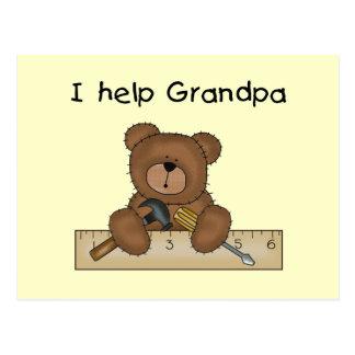 Bear Grandpa's Helper Tshirts and Gifts Postcard