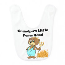 Bear Grandpa's Little Farm Hand Bib