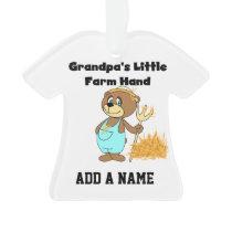 Bear Grandpa's Little Farm Hand Ornament