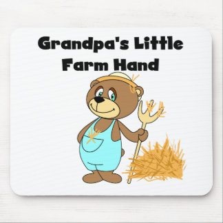 Bear Grandpa's Little Farm Hand Tshirts and Gifts Mouse Pad