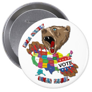 Bear-Graphic-3 Pinback Button