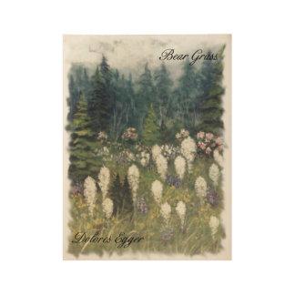 Bear Grass Wood Poster