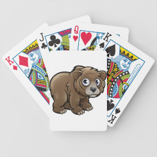 Bear Grizzly Animals Cartoon Character Bicycle Playing Cards
