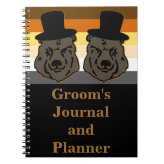 Bear Groom's Journal and Planner Gold and Black