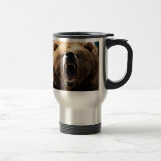 Bear Growl, Bear Pride, BEAR 15 Oz Stainless Steel Travel Mug