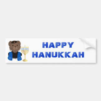 Bear Happy Hanukkah Bumper Sticker