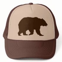 Bear Hat Grizzly Bear Brown Silhouette