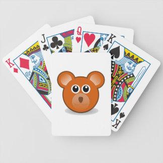 Bear head cartoon bicycle playing cards