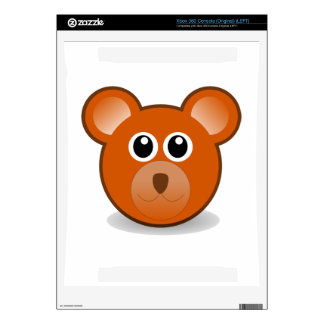 Bear head cartoon decals for the xbox 360