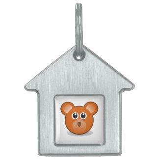 Bear head cartoon pet tag