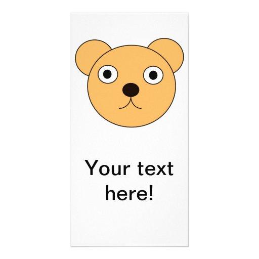 Bear head cartoon photo card